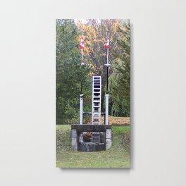 Country Water Wheel Metal Print