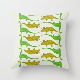 Paper Dino Throw Pillow