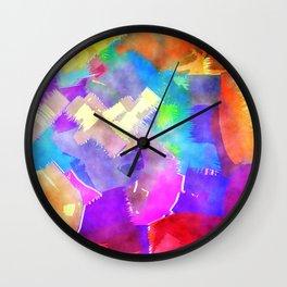 Watercolor Brush Strokes Wall Clock