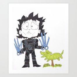 Mr Scissor Hands Art Print