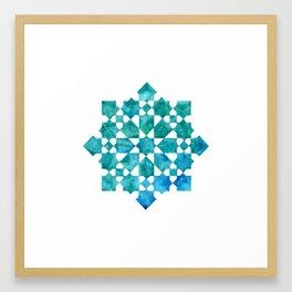 IG Turqoise Framed Art Print