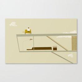 sur le toit Canvas Print
