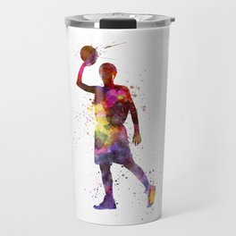 young man basketball player Travel Mug