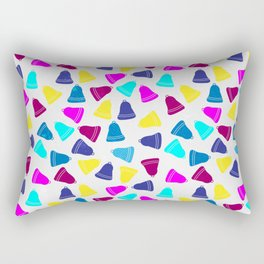 Colorful neon pink teal blue Christmas bells Rectangular Pillow