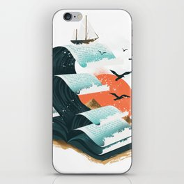 Waves of Knowledge iPhone Skin