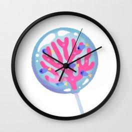 Ocean Blue Lollipop Wall Clock