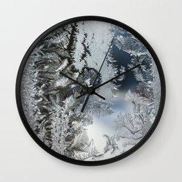 Frosty window Wall Clock