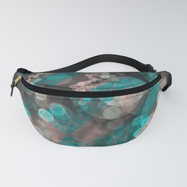 Bubblicious - Teal Pink & Taupe Palette Fanny Pack