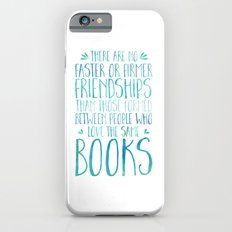 Bookish Friendship - Blue iPhone 6 Slim Case