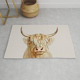 Albino Highland Cow Rug