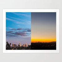 Sunset in Los Angeles Art Print