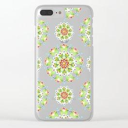Firework Mandala Clear iPhone Case