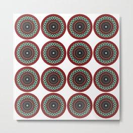 Coca Cola inspired pattern Metal Print