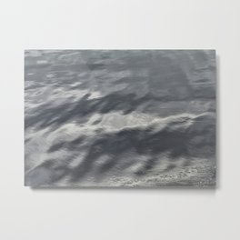 Watercolor Grays Metal Print