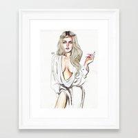lindsay lohan Framed Art Prints featuring Lindsay lohan by Lucas David