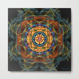 The Sri Yantra - Sacred Geometry Metal Print