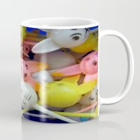 bunnies Mugs featuring Bunnies by molldoll527