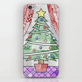 Coloured Christmas Tree iPhone Skin