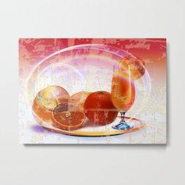 Orangensaft Metal Print