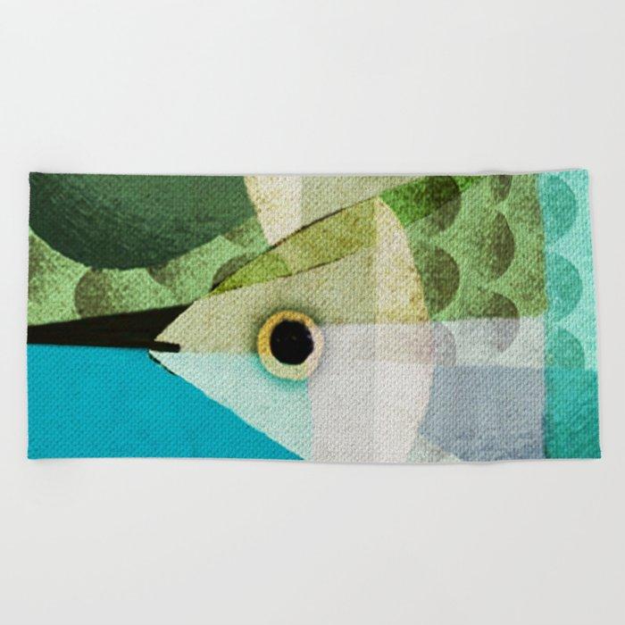 Fish Boxed Beach Towel