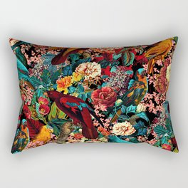 FLORAL AND BIRDS XVII Rectangular Pillow