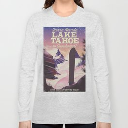 Lake Tahoe Sierra Nevada Snowboarding Long Sleeve T-shirt