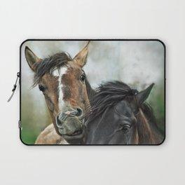 snuggling horses Laptop Sleeve