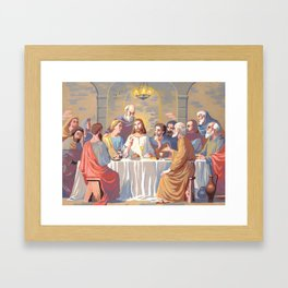 Alien Jesus Framed Art Print