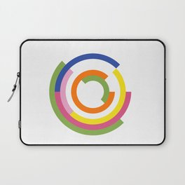 Bauhaus inspired design in a greenery palette Laptop Sleeve