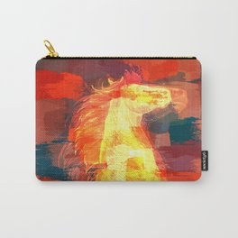 Mixed media  horse digital art Carry-All Pouch