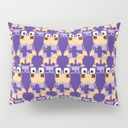 Super cute cartoon cow in purple - a moo-st have design for cow enthusiasts! Pillow Sham