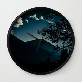 Glow - Sunset over Mountains in Jasper, Canada Wall Clock