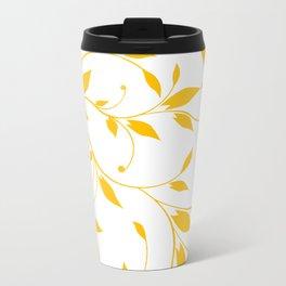 FLOWERY VINES | white yellow Travel Mug