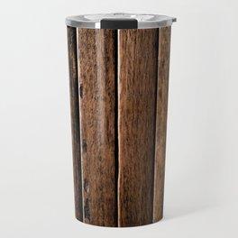 Farmhouse Wood Slats Wood Design Travel Mug