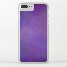 Abstract Soft Watercolor Gradient Ombre Blend 14 Dark Purple and Light Purple Clear iPhone Case