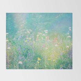 Mountain Wildflowers Throw Blanket