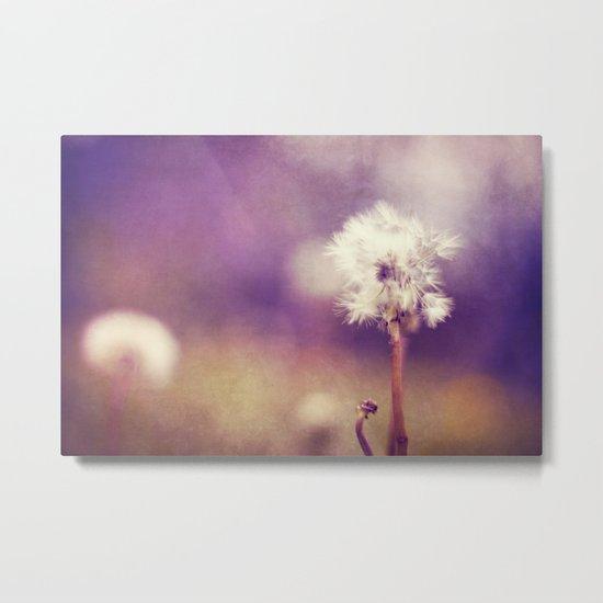 purple fields Metal Print