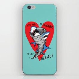 Shark To My Tornado iPhone Skin