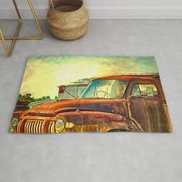 Old Rusty Bedford Truck Rug