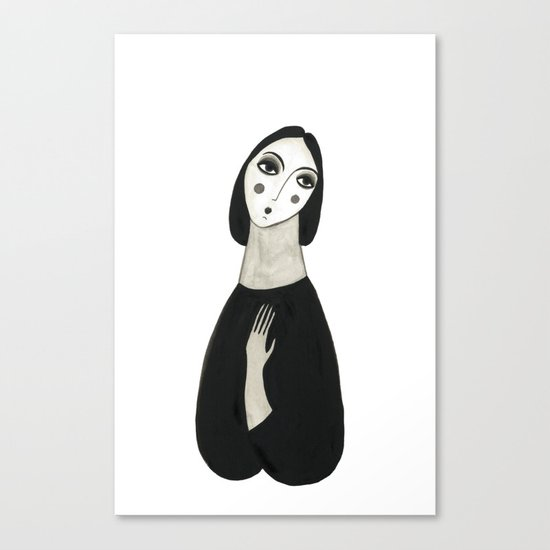 Oh so lady Canvas Print