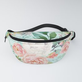 Watercolors colorful flowers pattern Fanny Pack