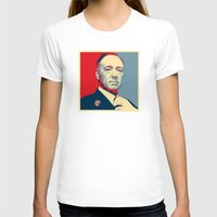 frank underwood T-shirts featuring House of Cards - Frank Underwood - Hope/Power Poster by RobHansen