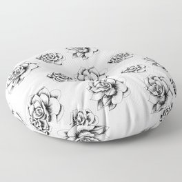 Succulents in Hatching by LauryArts Floor Pillow
