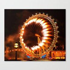 The London Eye Fireworks Canvas Print