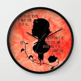 Love is like Death Wall Clock