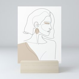 Latte Girl Mini Art Print