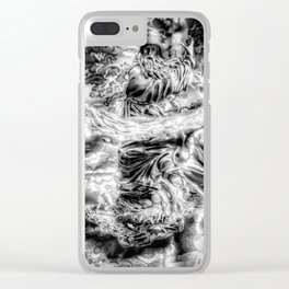 The Wiz - Black & White Clear iPhone Case