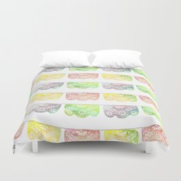 Vibrant Watercolor Papel Picado Duvet Cover