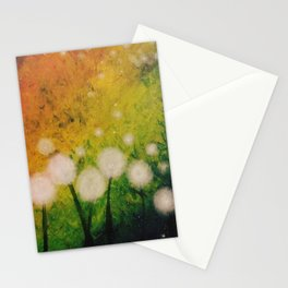 Dandelions at Night Stationery Cards
