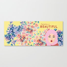Imperfection is BEAUTIFUL (Yellow) Canvas Print